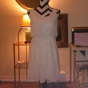 cream color summer dress